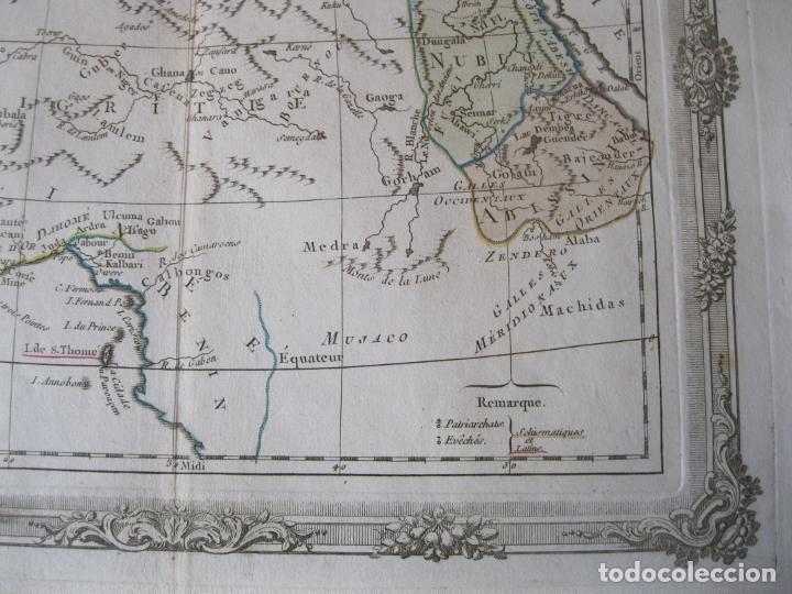 Arte: Mapa del norte y centro de África, 1766. Brion de la Tour /Desnos - Foto 4 - 214017981