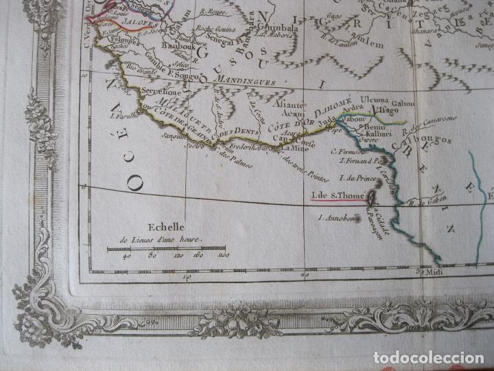 Arte: Mapa del norte y centro de África, 1766. Brion de la Tour /Desnos - Foto 5 - 214017981