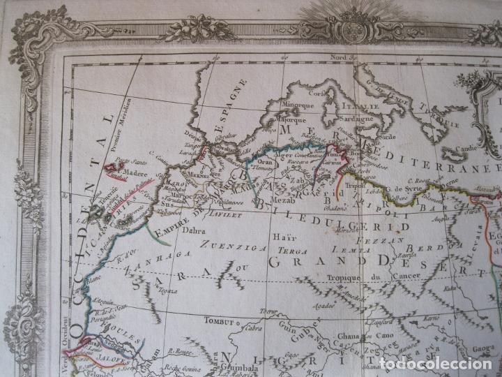 Arte: Mapa del norte y centro de África, 1766. Brion de la Tour /Desnos - Foto 6 - 214017981