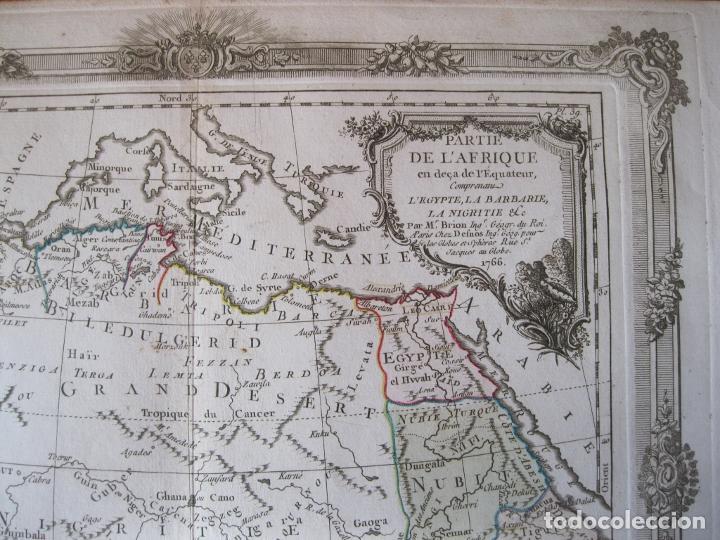 Arte: Mapa del norte y centro de África, 1766. Brion de la Tour /Desnos - Foto 7 - 214017981