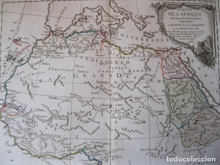 Arte: Mapa del norte y centro de África, 1766. Brion de la Tour /Desnos - Foto 8 - 214017981
