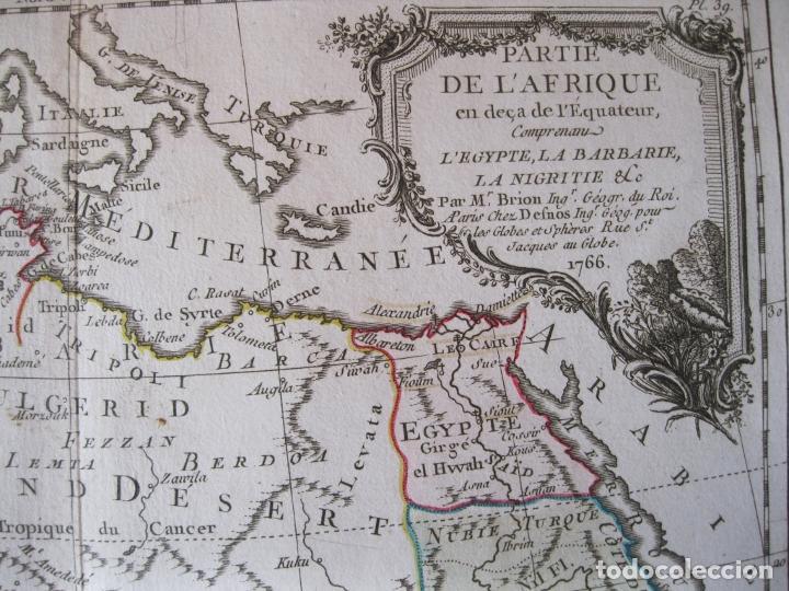 Arte: Mapa del norte y centro de África, 1766. Brion de la Tour /Desnos - Foto 9 - 214017981