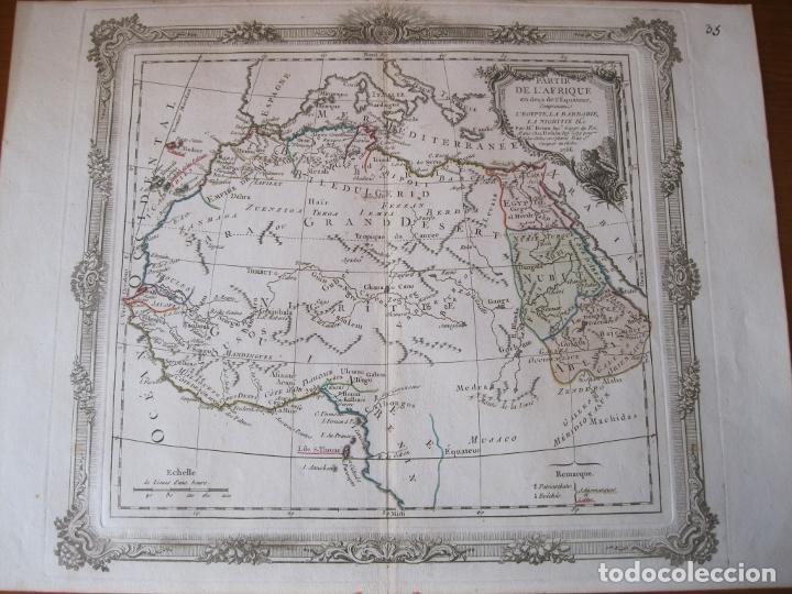 MAPA DEL NORTE Y CENTRO DE ÁFRICA, 1766. BRION DE LA TOUR /DESNOS (Arte - Cartografía Antigua (hasta S. XIX))