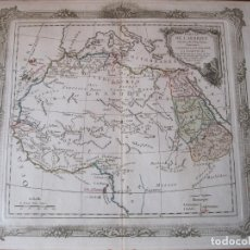 Arte: MAPA DEL NORTE Y CENTRO DE ÁFRICA, 1766. BRION DE LA TOUR /DESNOS. Lote 214017981