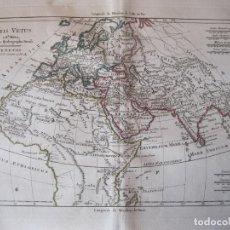 Arte: MAPA DEL MUNDO ANTIGUO, 1788. BONNE /SANTINI/GRENET. Lote 214018201
