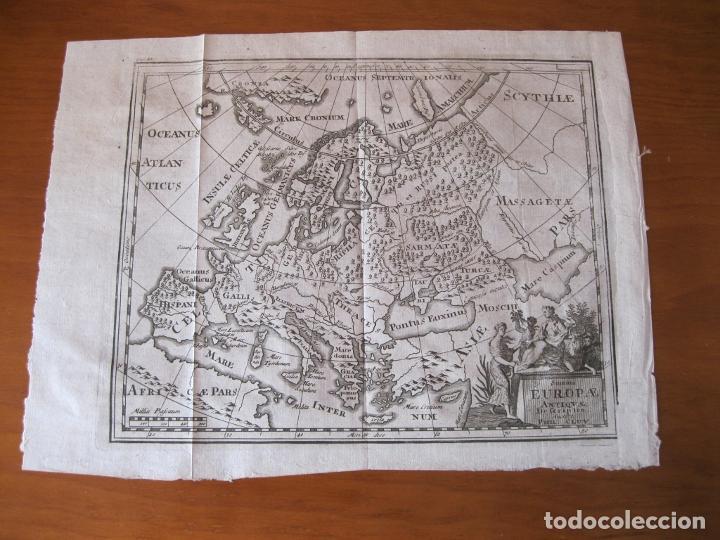 Arte: Mapa de Europa en la antigüedad, 1711. Cluver/ Bunone - Foto 2 - 214018501
