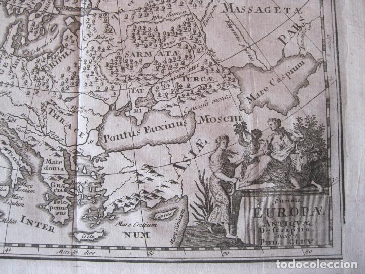 Arte: Mapa de Europa en la antigüedad, 1711. Cluver/ Bunone - Foto 6 - 214018501