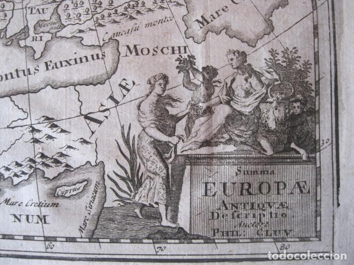 Arte: Mapa de Europa en la antigüedad, 1711. Cluver/ Bunone - Foto 7 - 214018501