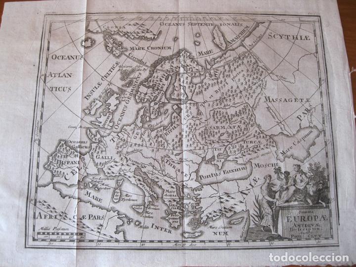 MAPA DE EUROPA EN LA ANTIGÜEDAD, 1711. CLUVER/ BUNONE (Arte - Cartografía Antigua (hasta S. XIX))