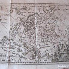 Arte: MAPA DE EUROPA EN LA ANTIGÜEDAD, 1711. CLUVER/ BUNONE. Lote 214018501