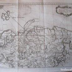 Arte: MAPA DEL VIAJE DE MARCO POLO POR EUROPA Y ASIA, 1746. NICOLAS BELLIN/PREVOST. Lote 214168742