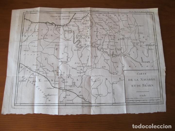 Arte: Mapa de Navarra y Vizcaya (España), 1780. Brion de la Tour - Foto 2 - 214172958