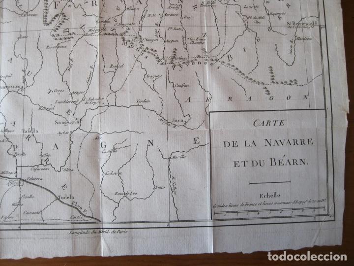 Arte: Mapa de Navarra y Vizcaya (España), 1780. Brion de la Tour - Foto 3 - 214172958