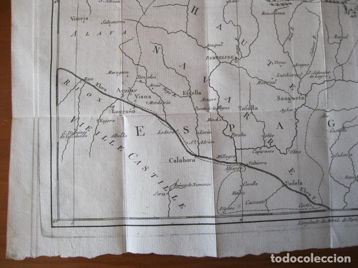 Arte: Mapa de Navarra y Vizcaya (España), 1780. Brion de la Tour - Foto 6 - 214172958