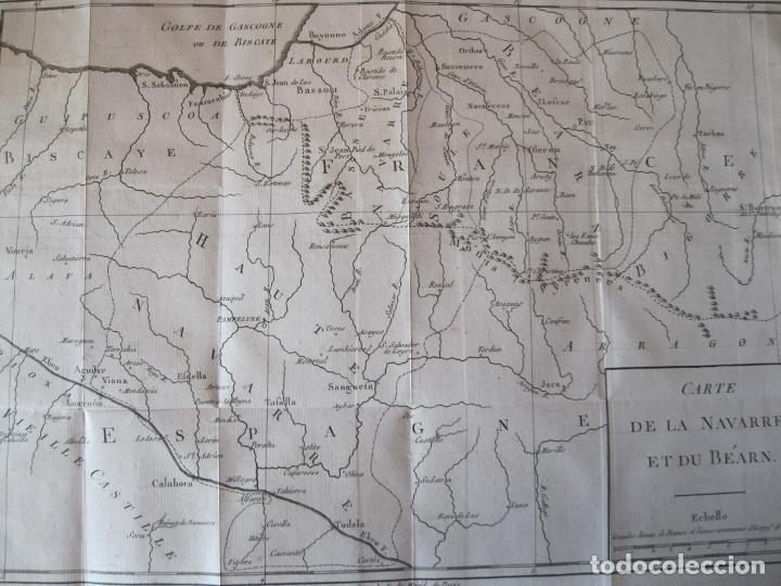 Arte: Mapa de Navarra y Vizcaya (España), 1780. Brion de la Tour - Foto 7 - 214172958