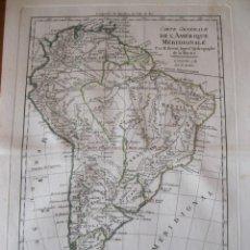 Arte: MAPA DE AMÉRICA DEL SUR, 1789. BONNE/ SANTINI/GRENET. Lote 214173456