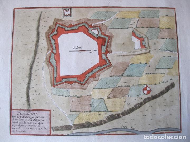 MAPA A COLOR DE LA FORTALEZA DE PUIGCERDÁ EN GERONA (CATALUÑA, ESPAÑA), 1693. NICOLÁS DE FER (Arte - Cartografía Antigua (hasta S. XIX))