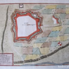 Arte: MAPA A COLOR DE LA FORTALEZA DE PUIGCERDÁ EN GERONA (CATALUÑA, ESPAÑA), 1693. NICOLÁS DE FER. Lote 214174701