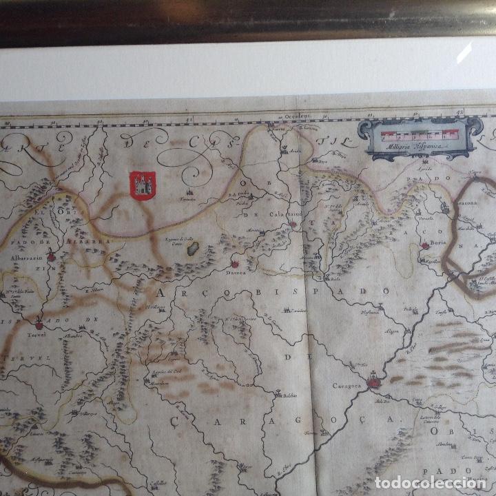 Arte: Mapa Reino de Aragón, Johannes Batiste Labanha Bleau siglo XVII original - Foto 4 - 214747437