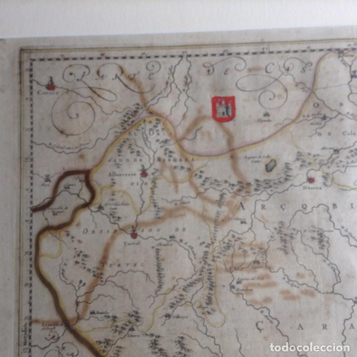 Arte: Mapa Reino de Aragón, Johannes Batiste Labanha Bleau siglo XVII original - Foto 5 - 214747437