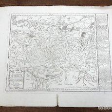 Art: MAPA GEOGRAFICO DE LAS SIERRAS DE GUADALUPE CON LOS TERRENOS INMEDIATOS EXTREMADURA TOMAS LOPEZ 1781. Lote 214817927
