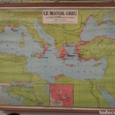 Arte: MAPA DE ESCUELA LE MONDE GREC. Lote 214850525