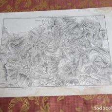 Arte: 1864-ALREDEDORES DE ENGEN Y STOKACH. MAPA PLANO ORIGINAL. Lote 215791368