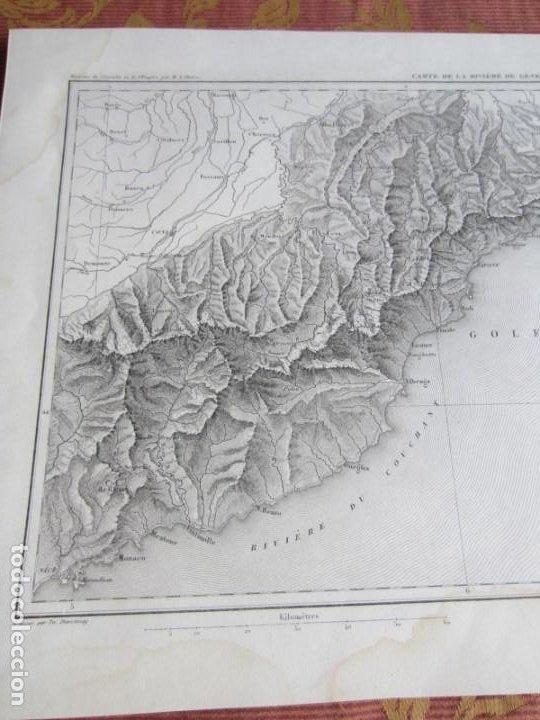 Arte: 1864-PLANO DE LA RIVIERA DE GENOVA.GENES.FINALE.NOLI.LEVANTE.CHIAVARI.ITALIA. MAPA PLANO ORIGINAL - Foto 2 - 215791533
