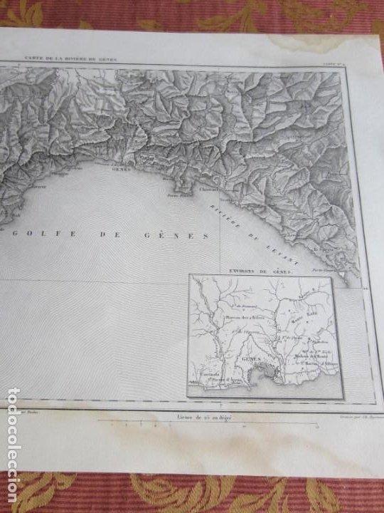 Arte: 1864-PLANO DE LA RIVIERA DE GENOVA.GENES.FINALE.NOLI.LEVANTE.CHIAVARI.ITALIA. MAPA PLANO ORIGINAL - Foto 3 - 215791533