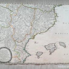 Arte: MAPA DE CATALUNYA ARAGON VALENCIA BALEARES - SANSON MARIETTE - AÑO 1653. Lote 215796303