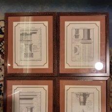 Arte: LOTE DE 4 PLANOS ARQUITECTÓNICOS DEL ORDEN DE CONSTRUCCIÓN DÓRICO, TOSCANO Y CORINTIO. REPRODUCCIÓN. Lote 246371705