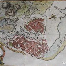 Art: COLOMBIA, CARTAGENA DE INDIAS, MAPA BELLIN, 1756, PLAN DE LA VILLE DE CARTHAGENE DES INDES…. Lote 216016997