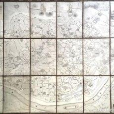 Art: SEVILLA / PLANO DE LA CIUDAD / 1848 / SARTORIUS. Lote 216797322