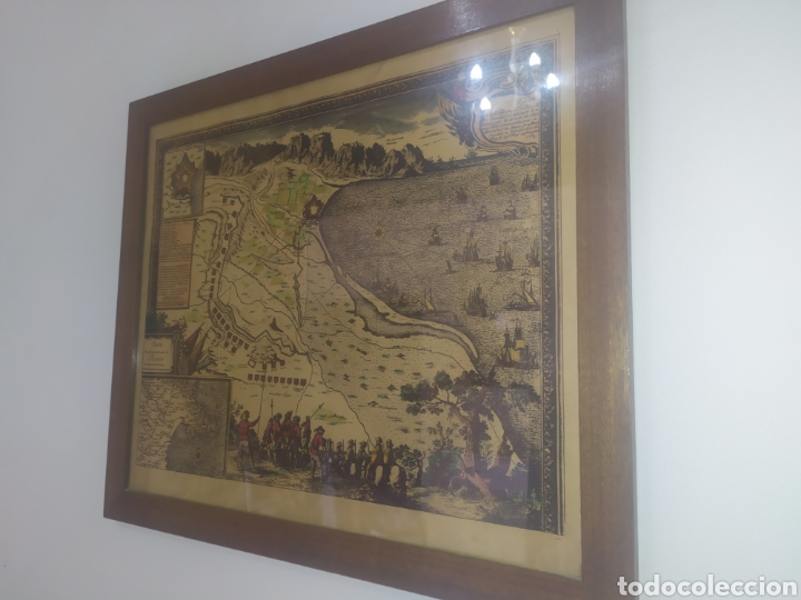 Arte: Antiguo gravado coloreado, mapa de la Villa de Rosas - Foto 5 - 217113457