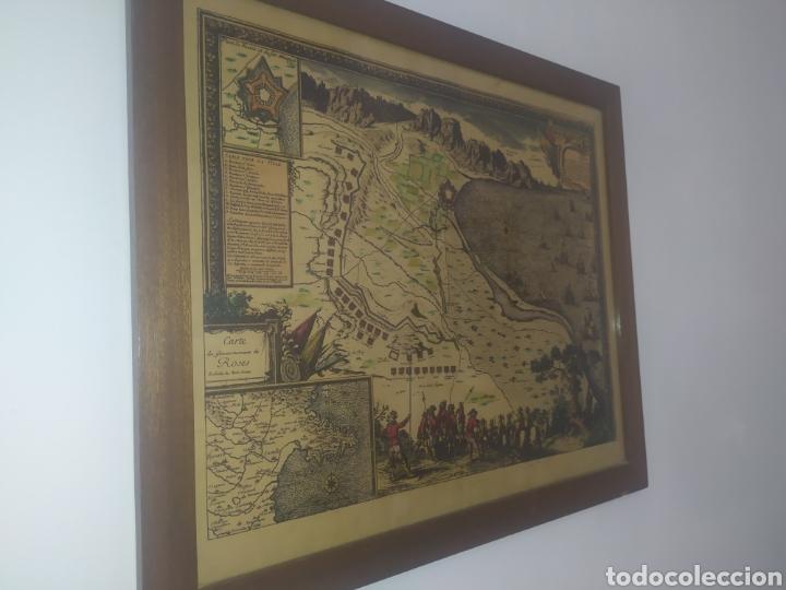 Arte: Antiguo gravado coloreado, mapa de la Villa de Rosas - Foto 6 - 217113457