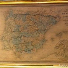 Arte: MAPA DE ESPAÑA Y PORTUGAL H. DUFOUR. Lote 217195130