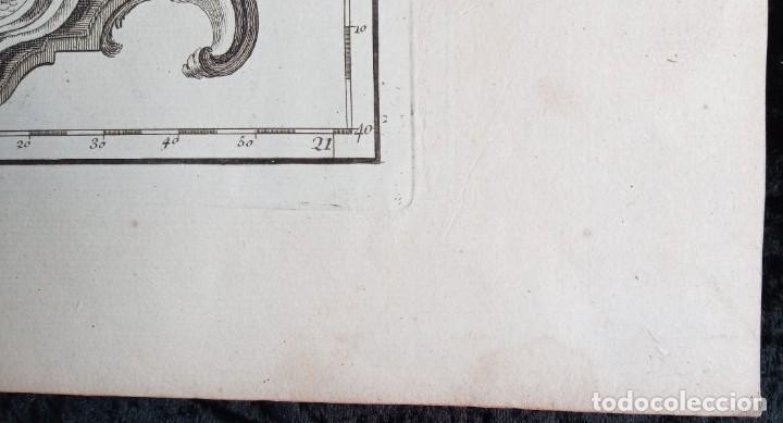 Arte: MAPA CORONA DE ARAGON - NAVARRA - PRINCIPADO DE CATALUÑA - 1752 - VAUGONDY - 80x55cm - marca agua - Foto 7 - 217227888