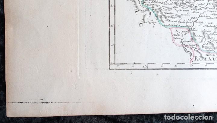 Arte: MAPA CORONA DE ARAGON - NAVARRA - PRINCIPADO DE CATALUÑA - 1752 - VAUGONDY - 80x55cm - marca agua - Foto 9 - 217227888