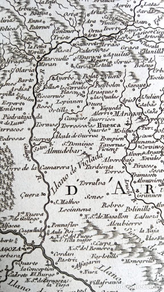Arte: MAPA CORONA DE ARAGON - NAVARRA - PRINCIPADO DE CATALUÑA - 1752 - VAUGONDY - 80x55cm - marca agua - Foto 14 - 217227888