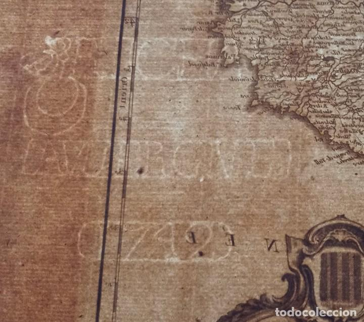 Arte: MAPA CORONA DE ARAGON - NAVARRA - PRINCIPADO DE CATALUÑA - 1752 - VAUGONDY - 80x55cm - marca agua - Foto 15 - 217227888