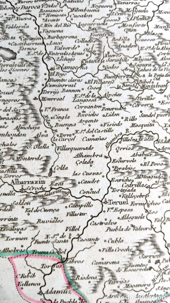 Arte: MAPA CORONA DE ARAGON - NAVARRA - PRINCIPADO DE CATALUÑA - 1752 - VAUGONDY - 80x55cm - marca agua - Foto 18 - 217227888
