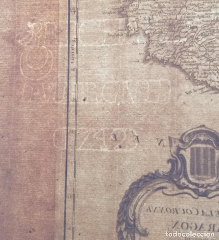 Arte: MAPA CORONA DE ARAGON - NAVARRA - PRINCIPADO DE CATALUÑA - 1752 - VAUGONDY - 80x55cm - marca agua - Foto 21 - 217227888