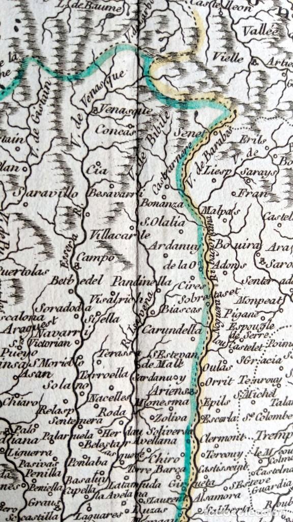 Arte: MAPA CORONA DE ARAGON - NAVARRA - PRINCIPADO DE CATALUÑA - 1752 - VAUGONDY - 80x55cm - marca agua - Foto 25 - 217227888