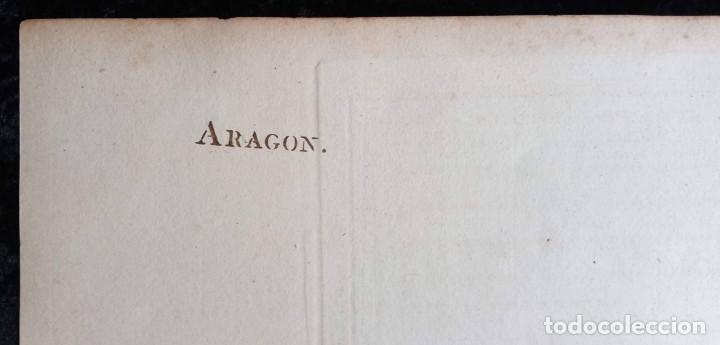 Arte: MAPA CORONA DE ARAGON - NAVARRA - PRINCIPADO DE CATALUÑA - 1752 - VAUGONDY - 80x55cm - marca agua - Foto 27 - 217227888
