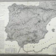 Arte: MAPA DE ESPAÑA Y PORTUGAL - GUERRA DE LA INDEPENDENCIA - AÑO 1823 - VACANI. Lote 217266601