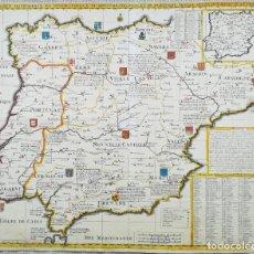 Arte: MAPA DE ESPAÑA Y PORTUGAL - CHATELAIN - AÑO 1705. Lote 217336456