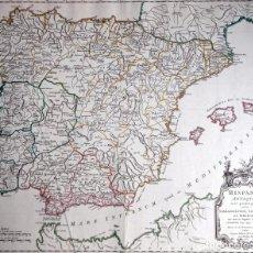 Arte: HISPANIA ANTIQUA - 1750 - TARRACONENSEM - LUSITANIAM ET BAETICAM - ROBERT DE VAUGONDY. Lote 217641726
