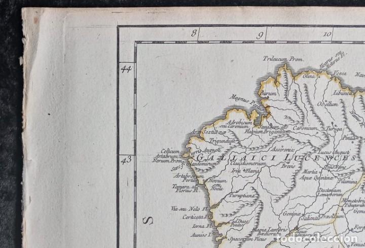 Arte: HISPANIA ANTIQUA - 1750 - TARRACONENSEM - LUSITANIAM ET BAETICAM - ROBERT DE VAUGONDY - Foto 3 - 217641726