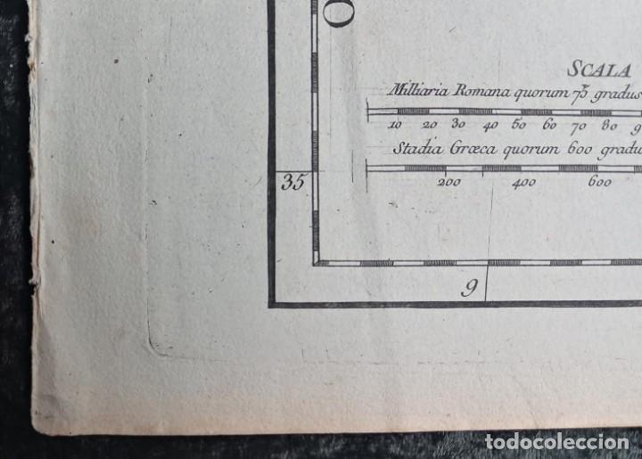 Arte: HISPANIA ANTIQUA - 1750 - TARRACONENSEM - LUSITANIAM ET BAETICAM - ROBERT DE VAUGONDY - Foto 4 - 217641726