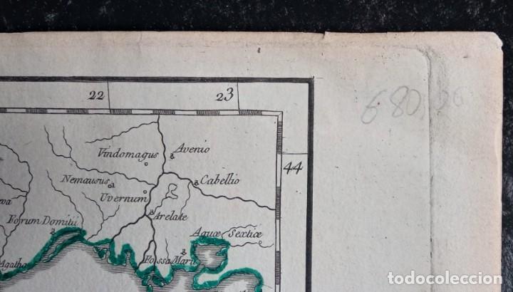 Arte: HISPANIA ANTIQUA - 1750 - TARRACONENSEM - LUSITANIAM ET BAETICAM - ROBERT DE VAUGONDY - Foto 6 - 217641726
